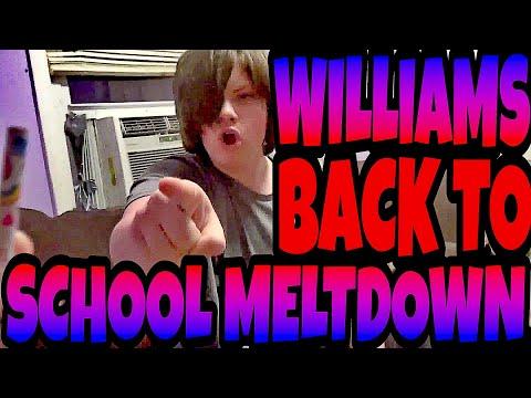 WILLIAMS BACK TO SCHOOL MELTDOWN!!!