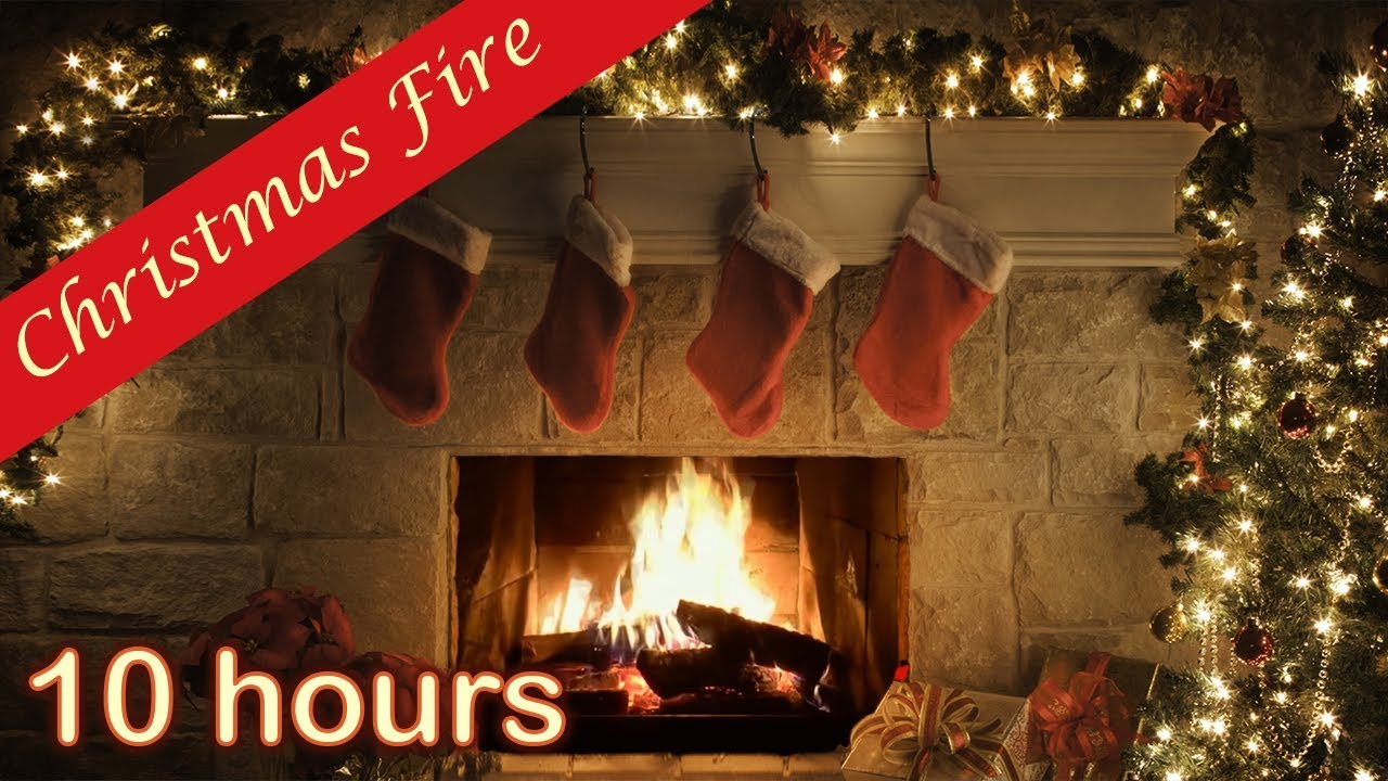 10 Hours Christmas Fireplace Relaxing Fireplace With