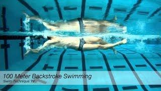 100 Meter Backstroke Swimming Technique