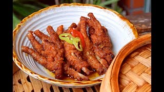 Chicken Feet, Dim Sum style - How to Make Authentic Restaurant-style Chicken Feet (紫金凤爪)