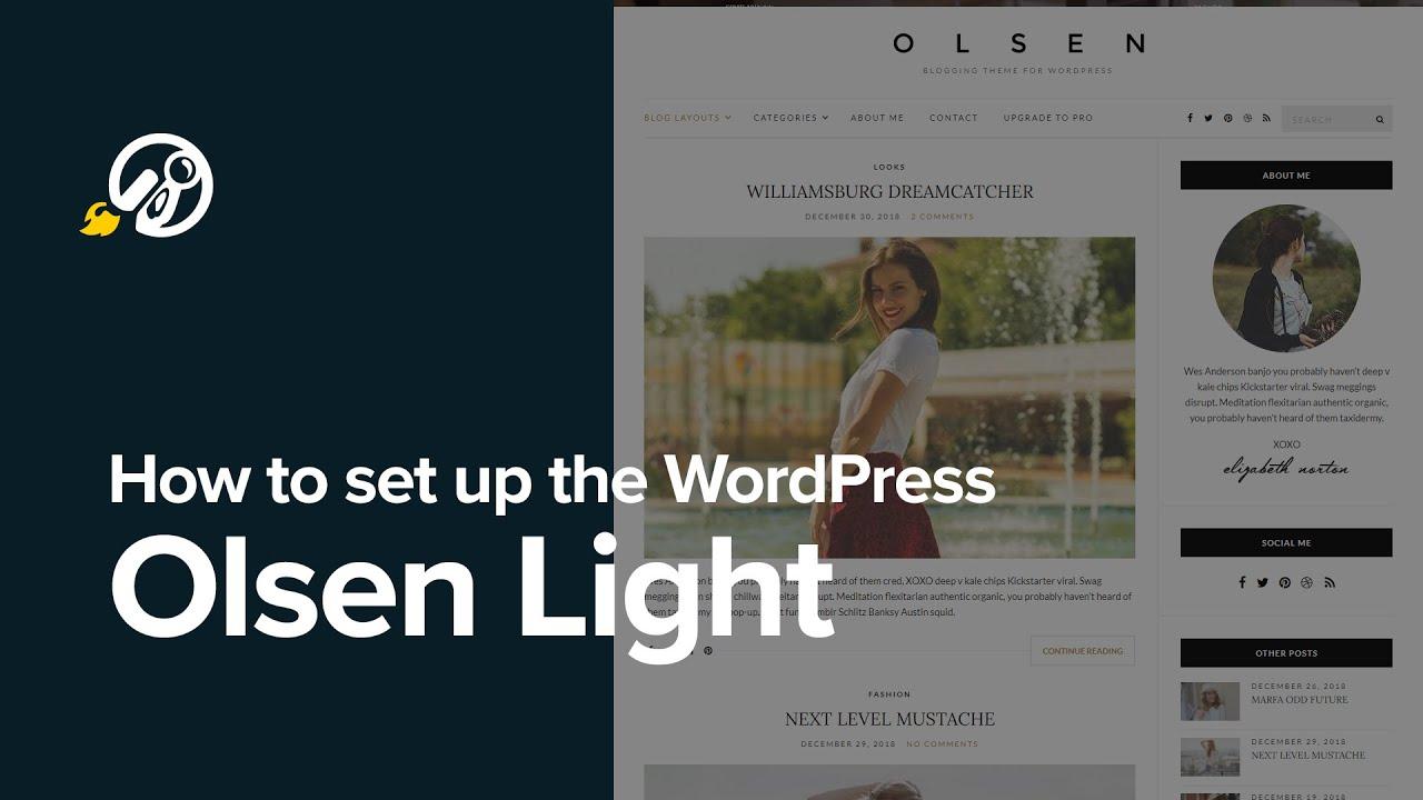 How to setup the free WordPress theme Olsen Light