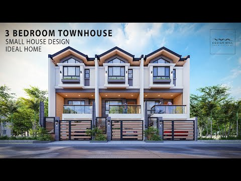 D01 | Small House Design | 5m x 13m Lot 3-Bedroom Townhouse