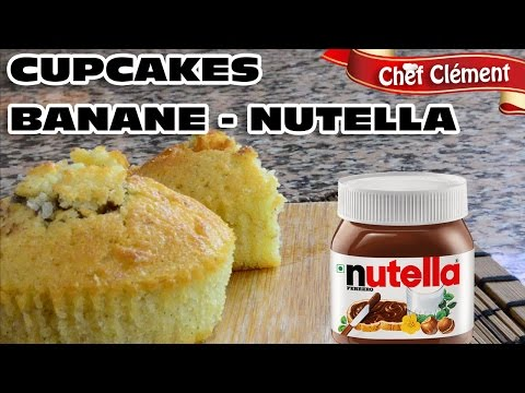 recette-gourmande-:-cupcakes-moelleux-vanille,-banane-et-nutella---chef-clément