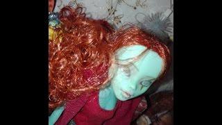 МК.Как сделать парик для куклы.