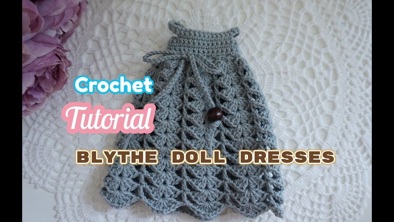 How To Crochet Doll Lace Dress Doll Clothes Youtube