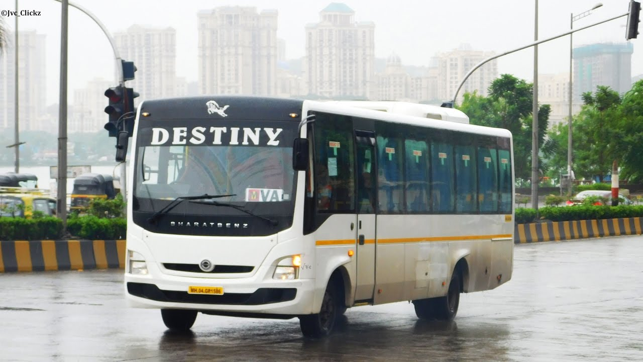 A New Luxury In Mumbai  Bharat Benz Bus