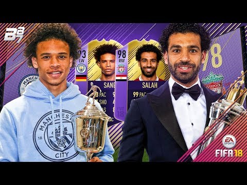 PLAYER OF THE YEAR SALAH / YOUNG PLAYER OF THE YEAR SANE! SQUAD BUILDER CHALLENGE | FIFA 18