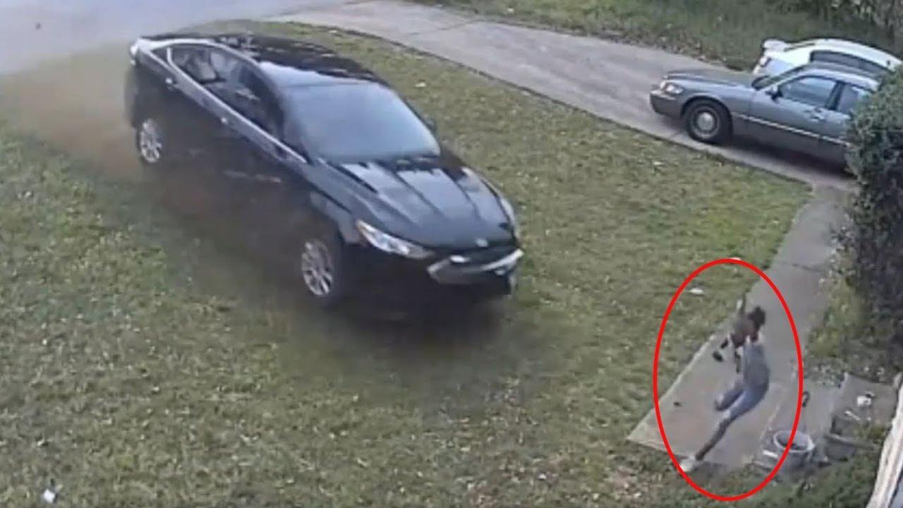 Download Car runs stop sign, hits girl playing in yard