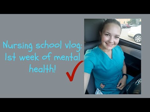 Nursing school vlog: 1st week of mental health rotation!!