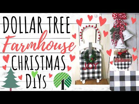 DOLLAR TREE DIY🎄FARMHOUSE CHRISTMAS DECOR 2019🎄EASY DIYS AND PINE CONE HUNTING!