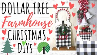 DOLLAR TREE DIY🎄FARMHOUSE CHRISTMAS DECOR 2019🎄EASY DIYS AND PINE CONE HUNTING!