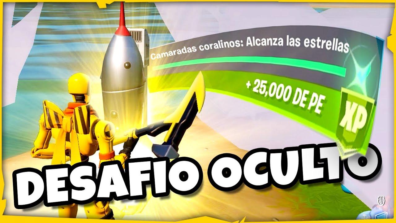 *DESAFIO OCULTO* ➡️ desafio de LA CIUDAD y COHETE MINIATURA!!! | FORTNITE mision secreta temporada 3