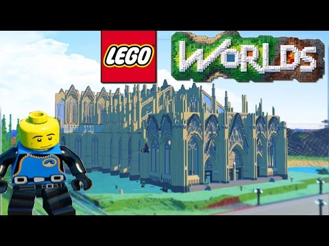 LEGO Worlds - LEGO Land Building BIGGEST CITY! Sky Base, SPACE SHIP & More! #7 (LEGO Worlds)