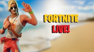 *LIVE* NEW SUNTAN SPECIALIST SKIN AND PLAYGROUND | FORTNITE BATTLE ROYALE LIVE | (Road to 300 subs!)