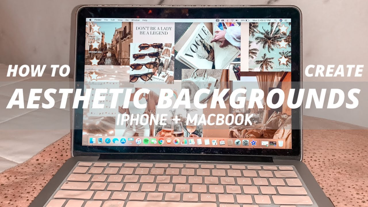 How To Make Aesthetic Collage Backgrounds For Macbook Iphone Youtube