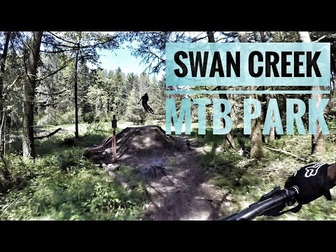Mountain Biking In Swan Creek, Tacoma Washington One large pump track