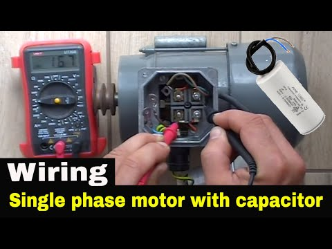 How to wire single phase motor with start/run/permanent capacitors.