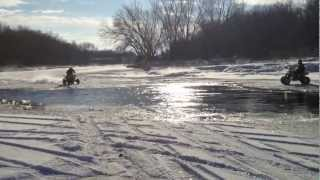 skipping water with z400