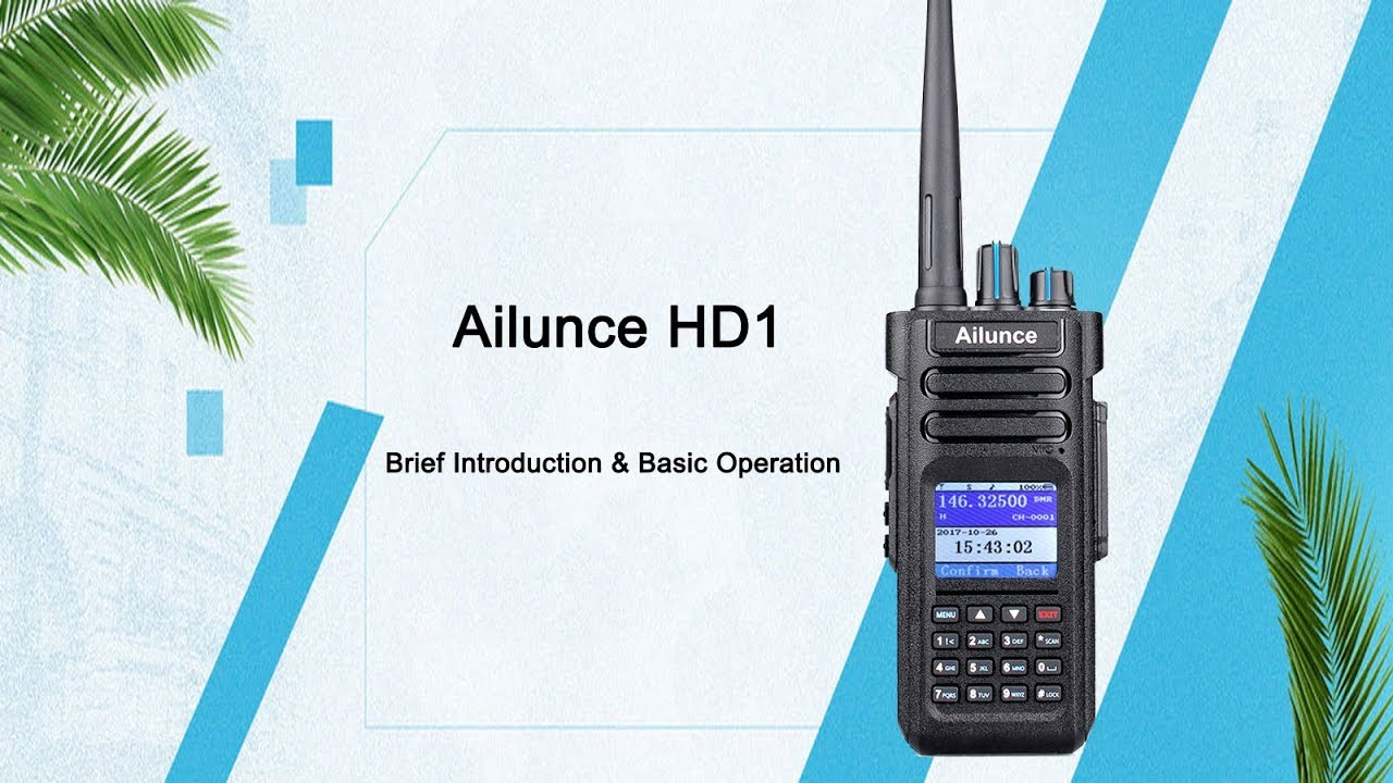 Ailunce HD1 software introduction - Retevis Blog