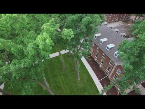 Olivet College - aerial video footage