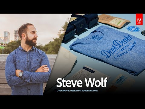 Live Graphic Design with Steve Wolf 1/3