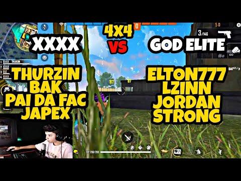 4x4 DOS MITOS XXXX VS GOD ELITE THURZIN, BAK, PAI DA FAC, JAPEX  VS  JORDAN, ELTON777, LZINN, STRONG