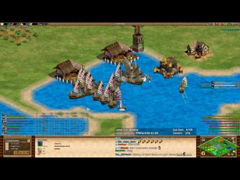 AoE2 - King Of The Hill - Who needs galleys?