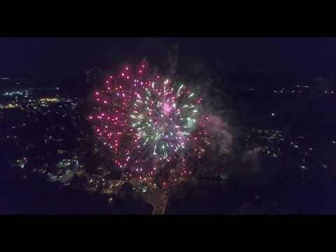 Pompton Lakes, NJ Pompton Days Fireworks 2017 Aerial Drone Video