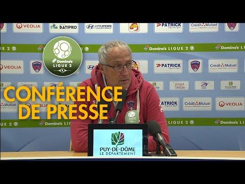 Conférence De Presse Clermont Foot - ESTAC Troyes ( 3-2 )  / 2019-20