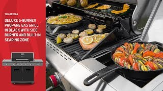 Nexgrill DEluxe 5-Burner Propane Gas Grill w/ Ceramic Rear Burner, and Side Burners (720-0896GA)