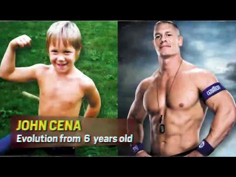 john cena  antes y después desde los 6 años asta los 40