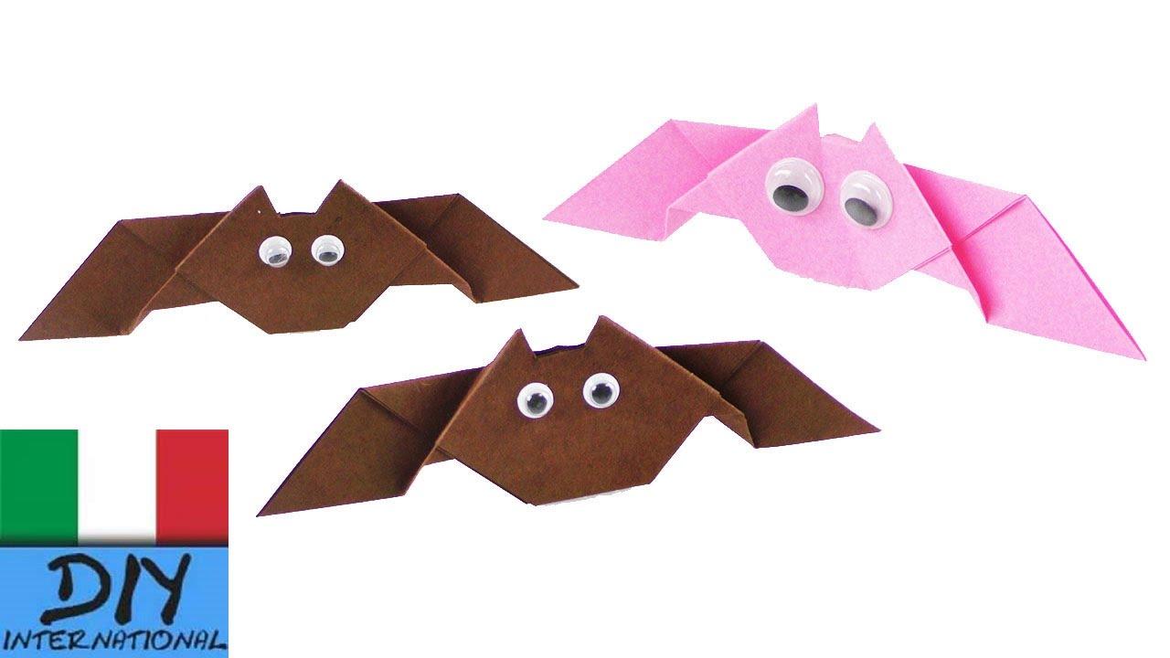 Farfalle Decorative Fai Da Te pipistrelli fai da te | idee per decorazioni di halloween | 3d | facili  istruzioni per bambini
