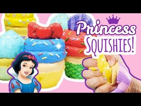 Homemade Squishy Update #12 | Disney Princess Cupcake Series