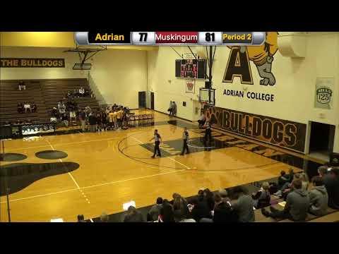 Adrian College NCAA Basketball hosts Muskingum | 11/24/19