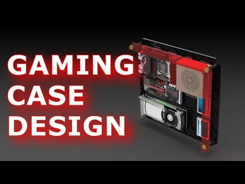 Designing a Gaming PC Case | Wall Mounted | Free plans