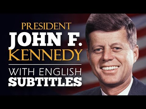 ENGLISH SPEECH | PRESIDENT KENNEDY: 1961 Inaugural Address (English Subtitles)