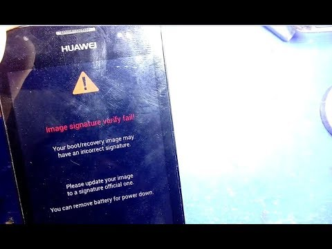 huawei G525 G510 Y300 image signature verify fail solution