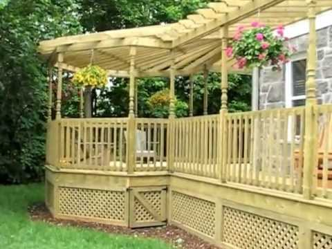 pergola en bois gagn par patios et cl tures beaulieu beaconsfield montr al qu bec youtube. Black Bedroom Furniture Sets. Home Design Ideas