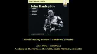 Richard Rodney Bennett - Saxophone concerto, 1st & 2nd movements (1/2)