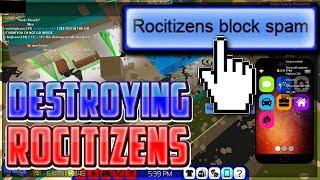 FE BLOCK SPAMMING ROCITIZENS *SCRIPT IN DESCRIPTION* || ROBLOX EXPLOITING VIDEO #30