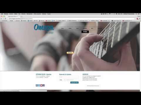 Omega Music School - Como usar la página