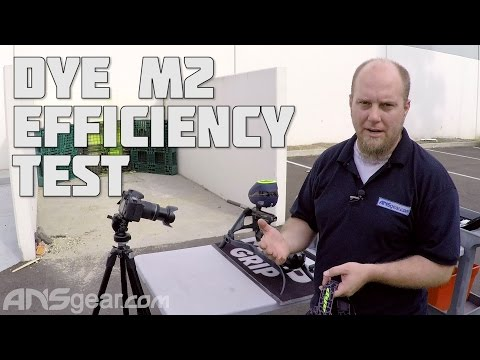 Dye M2 Paintball Gun - Efficiency Test