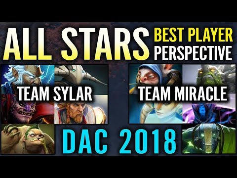 ALL STAR GAME 2018 DAC TEAM SYLAR vs TEAM MIRACLE - Best Player Perspective Dota 2 from YouTube · Duration:  12 minutes 52 seconds