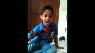 Dulen Aavin  singing a song