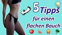 5 ultimative Tipps für einen flachen Bauch I Blähbauch und Bauchfett abnehmen I Dyedblondpony