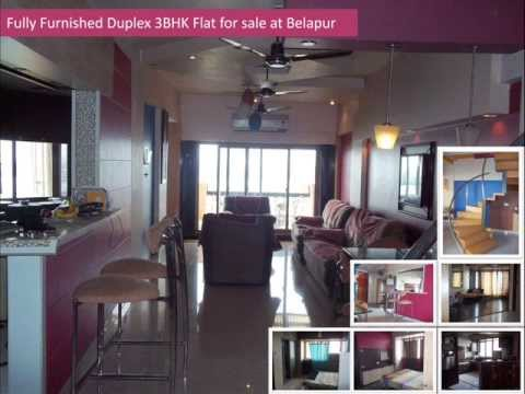 Fully Furnished Duplex 3BHK Apartment for  sale at Belapur, Navi mumbai.