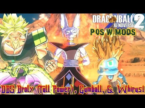 DBS BROLY, GUMBALL, & WHIRUS! | Dragon Ball Xenoverse 2 | PQs W/Mods