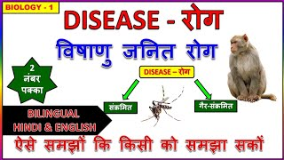General Science |Biology- Disease(रोग) |For ssc cgl, uppcs, ctet, railway in hindi