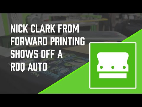 Nick Clark From Forward Printing Shows Off ROQ Screen Print