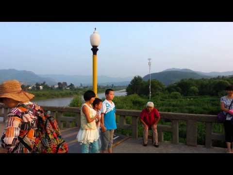 Border bridge between North Korea and China Tumen River